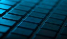 与拷贝空间的键盘特写镜头 免版税图库摄影