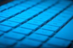 与拷贝空间的键盘特写镜头 免版税库存照片