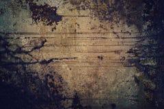 与拷贝空间的阴沉的老生锈的难看的东西金属纹理背景 免版税库存图片