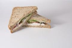 与拷贝空间的整粒鸡丁沙拉三明治 图库摄影
