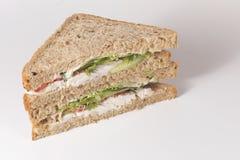与拷贝空间的整粒鸡丁沙拉三明治 库存图片