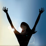 与拷贝空间EPS10传染媒介的跳芭蕾舞者背景 库存图片