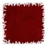 与拷贝Sp的红色白色抽象圣诞节雪花边界框架 免版税库存图片