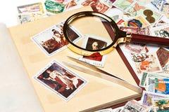 与拿破仑的图片的邮票册页的 库存照片