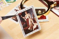 与拿破仑的图片的邮票 免版税图库摄影