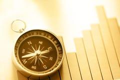 与指南针和箭头的图概念 免版税图库摄影