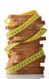 与指示减重的评定磁带的面包 库存图片