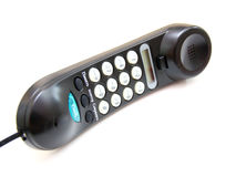 与按钮的一个黑色电话 库存图片