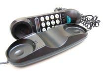 与按钮的一个黑色电话 免版税库存照片