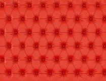 与按钮的红色皮革背景 3d回报 库存例证