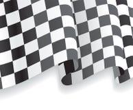 与挥动的赛跑的旗子的背景 向量 库存照片