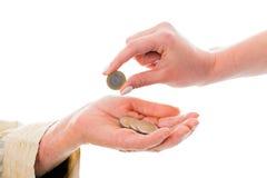 与捐赠的财政支持 免版税库存图片