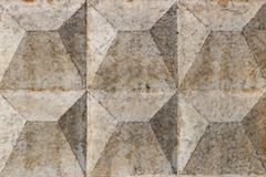 与损坏的和被抓的表面的灰色混凝土墙纹理 抽象背景 免版税图库摄影
