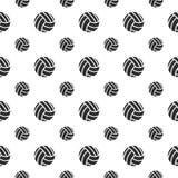 与排球的无缝的样式 免版税库存照片