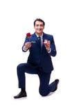 与提出结婚提议的人的浪漫概念 免版税库存照片