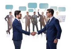与握手的cooperationa和配合概念 免版税图库摄影