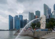与摆尾的新加坡标志Lon 图库摄影