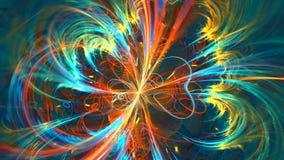 与摘要色的宇宙的分数维背景 高详细 影视素材