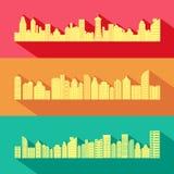 与摩天大楼大厦的都市风景 免版税库存照片