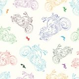 与摩托车2的无缝的纹理 免版税库存图片