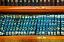 与摩西五经的架子在西Wal在耶路撒冷 库存照片