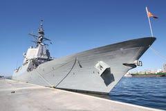 与支持系统的驱逐舰F-104门德斯NUÃ ` EZ 库存图片