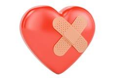 与收口膏药, 3D的伤心翻译 向量例证