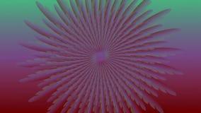 与改变的颜色,转动在多彩多姿的背景,无缝loopable的花的抽象略写法开花动画 向量例证