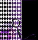 与放大器玻璃的紫色白色 向量例证