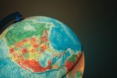 与政治地图的地球对此 免版税库存照片