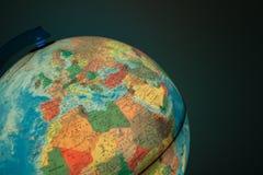 与政治地图的地球对此 库存图片