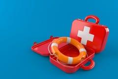与救生圈的急救工具 免版税图库摄影