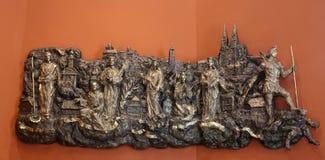 与教会和Kaptol的受护神的低音安心萨格勒布的老部分 图库摄影