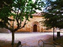 与教会ofi圣尼古拉斯的风景 免版税库存图片