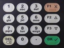 与数字和信件的黑键盘 免版税图库摄影