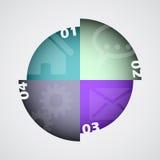 与数字和标志的图设计 向量例证
