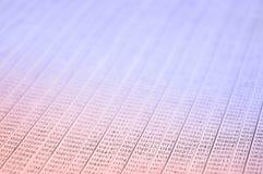 与数字的加工印刷纸背景 免版税库存照片