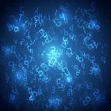 与数字的抽象技术背景 免版税库存照片