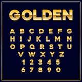 与数字的按字母顺序的字体金信件 eps10开花橙色模式缝制的rac ric缝的镶边修整向量墙纸黄色 免版税库存图片