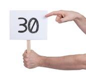 与数字的标志, 30 免版税库存图片