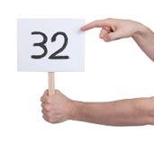 与数字的标志, 32 免版税库存照片