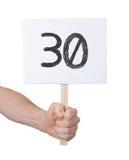 与数字的标志, 30 图库摄影