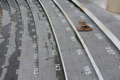 与数字的楼梯步在古晋镇清真寺 免版税库存照片