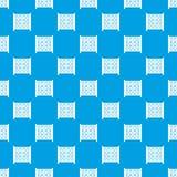 与数字的立方体在操场仿造无缝的蓝色 图库摄影