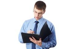 与文件的新生意人 免版税库存图片