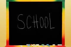 与文本学校的黑板 库存照片