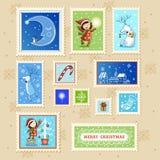 与文本框的圣诞卡 库存照片