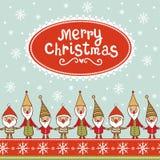 与文本框的明亮的圣诞卡。 库存照片