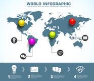 与文本的企业球形infographic模板 库存照片
