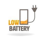 与文本的低电池充电象 皇族释放例证